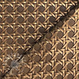 Faux leather TROQUET bronze