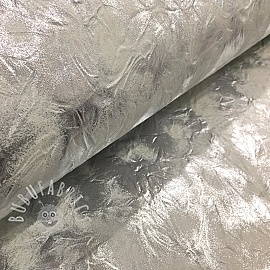 Faux leather WRINKLE argent blanc