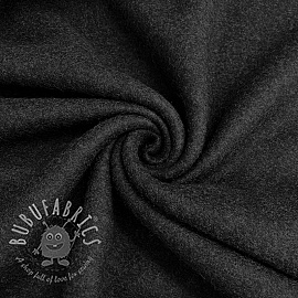 Fleece cotton anthracite melange