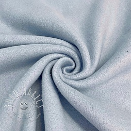 Fleece cotton light blue