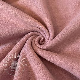 Fleece cotton old pink