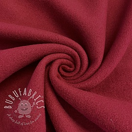 Fleece cotton red