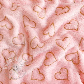Fleece Wellness hearts rose