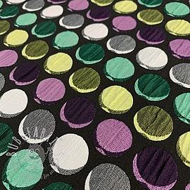 Jacquard Dots black lila
