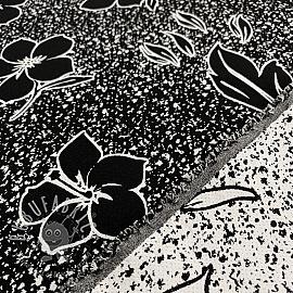 Jacquard Flowers black