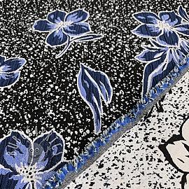 Jacquard Flowers blue