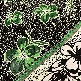 Jacquard Flowers green