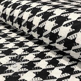 Jacquard Pied de poule white black