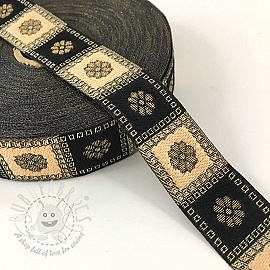 Jacquard Square black/gold