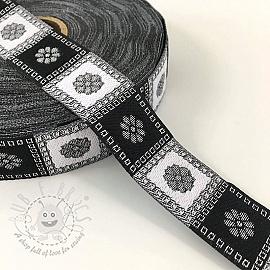 Jacquard Square black/silver