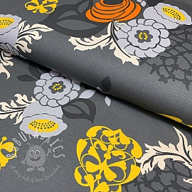 Jersey Abstract Flower grey
