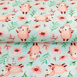 Jersey Baa-lamb mint digital print