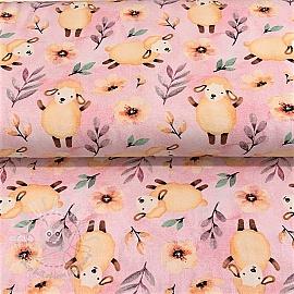 Jersey Baa-lamb rose digital print
