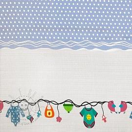 Jersey Childhood light blue border digital print