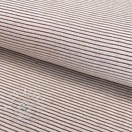 Jersey Cotton-Linen Lurex stripe natural rose