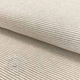 Jersey Linen Lurex stripe natural silver