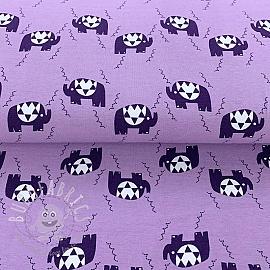Jersey Crazy elephant purple