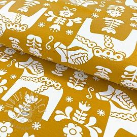 Jersey Dala Horses yellow