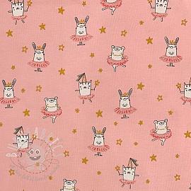 Jersey Dancing rabbit pink