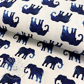 Jersey Elephant off white digital print