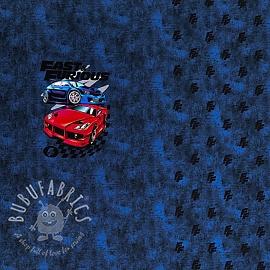 Jersey Fast and Furious dark cobalt digital print PANEL