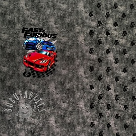 Jersey Fast and Furious rock grey digital print PANEL
