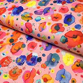 Jersey Festive flowers rose digital print