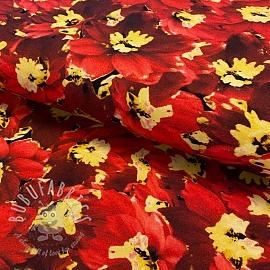 Jersey Flower burned field digital print