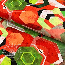 Jersey GEO craft green digital print