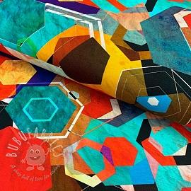 Jersey GEO craft red digital print