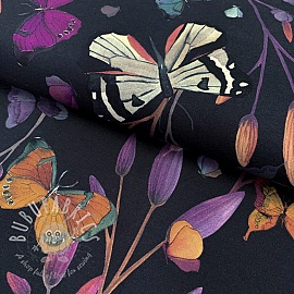 Jersey Butterflies navy digital print