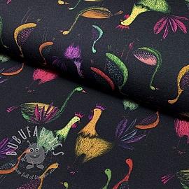Jersey GOTS Herons black digital print