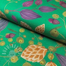Jersey GOTS Hop green digital print