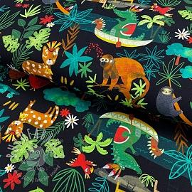 Jersey GOTS Jungle vibes black digital print