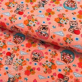 Jersey Kittens in basket rose digital print
