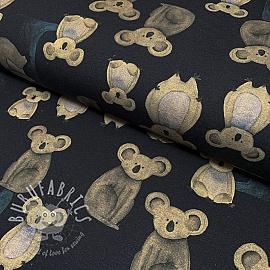 Jersey GOTS Koalas black digital print