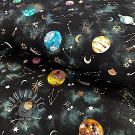 Jersey GOTS New galaxy black digital print