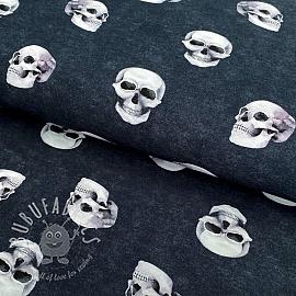Jersey GOTS Skull navy digital print