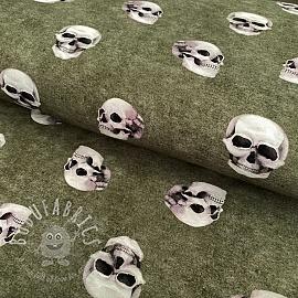 Jersey GOTS Skull pickle digital print