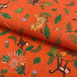 Jersey Swinging monkeys orange digital print