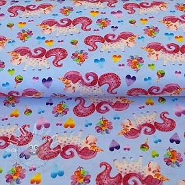 Jersey Happy unicorn blue digital print
