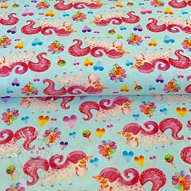 Jersey Happy unicorn mint digital print