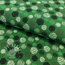 Jersey Hexagon pattern green