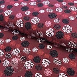 Jersey Hexagon pattern pink