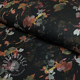 Jersey MIX Izar Flowers black digital print