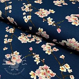 Jersey modal Blossom dark blue