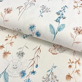 Jersey Naos little flowers digital print