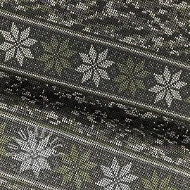 Jersey Norwegian Snowflake green