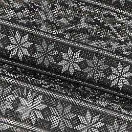 Jersey Norwegian Snowflake grey