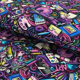 Jersey Palette purple digital print